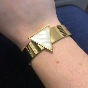 Gold BP Bracelet with Marble Triangle